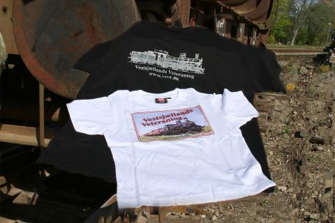 T-shirt med logo Sort eller hvid